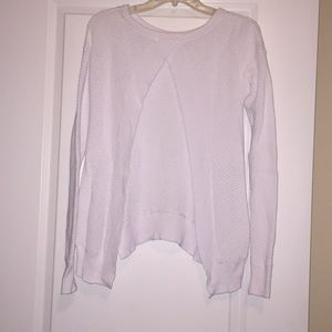 EUC white open back sweater